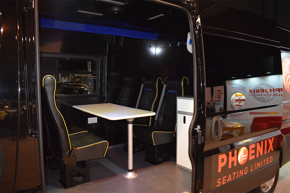 Welfare Vehicle fitted with Revive Seats NAPFM 2018 - Phoenix Seating