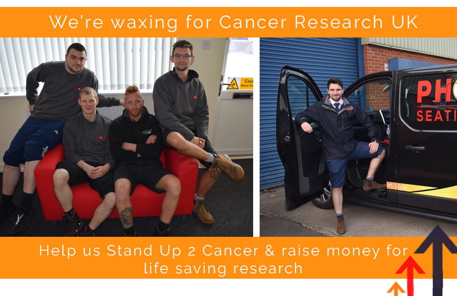 Phoenix waxing for Cancer Research UK