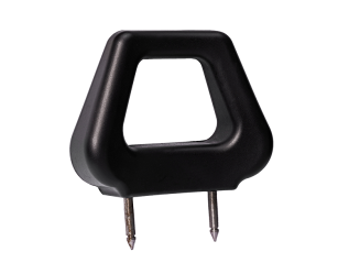 Open PU Headrest - Black Angled - Phoenix Seating