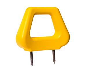 Open PU Headrest - Yellow Angled - Phoenix Seating